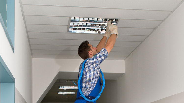 Installation jsb lighting solutions installation overseeing superior workmanship of quality commercial lighting installers mozeypictures Images